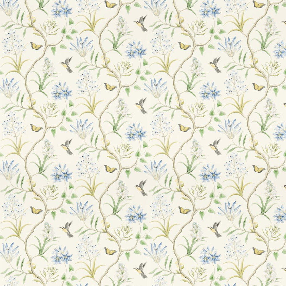Sanderson Clementine Blue / Yellow / Green Wallpaper - Product code: 213389
