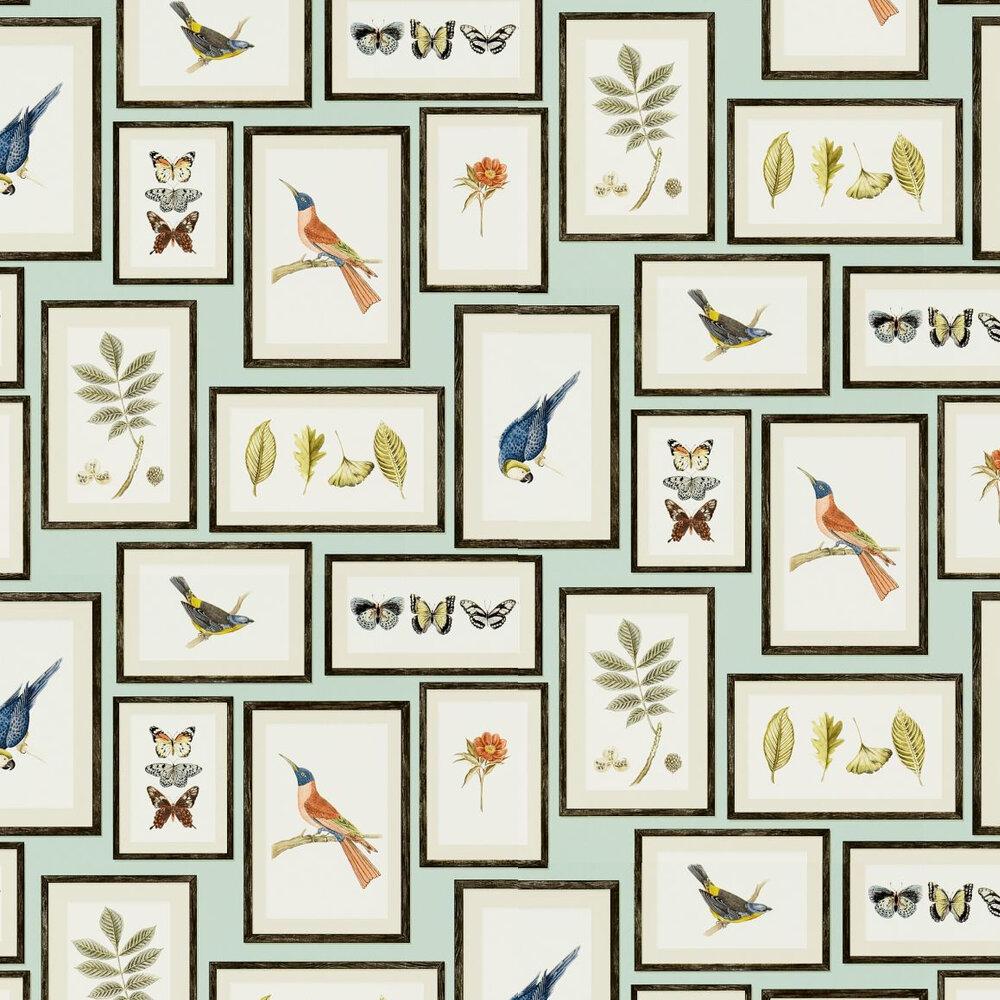 Sanderson Picture Gallery Duck Egg / Multi Wallpaper - Product code: 213400