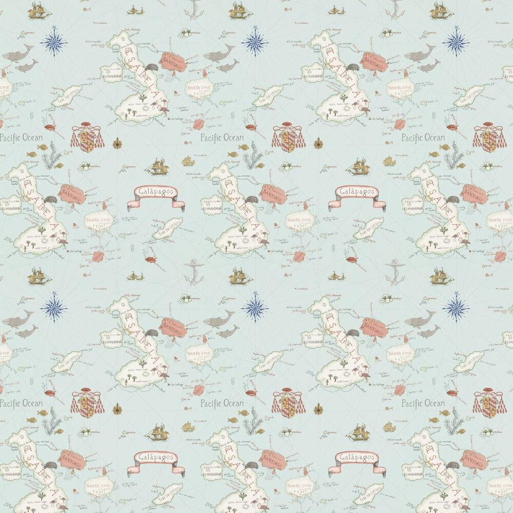 Sanderson Galapagos Blue / Multi Wallpaper - Product code: 213364