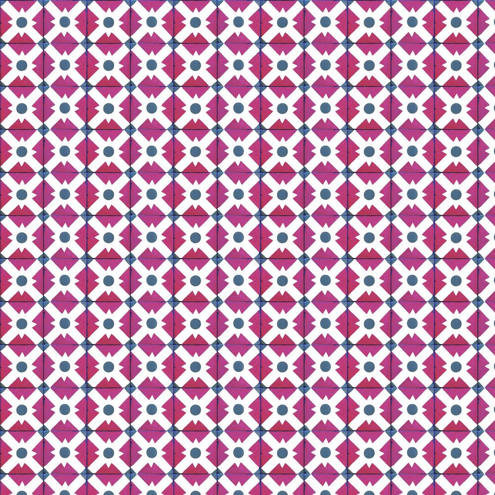Coordonne Celosia Clay Berry Red / White / Grey Wallpaper - Product code: 3000012