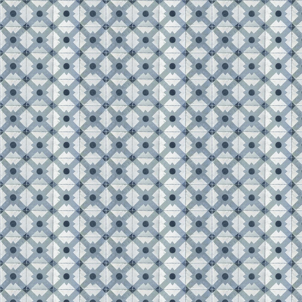 Coordonne Celosia Grey Grey / Blue / Off White Wallpaper - Product code: 3000013