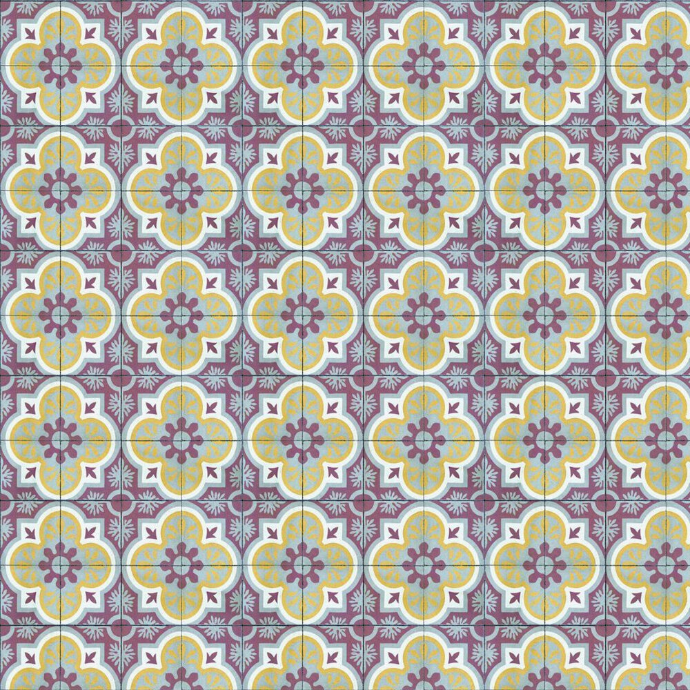 Coordonne Mandala Soft Yellow / Terracotta / Grey Wallpaper - Product code: 3000018