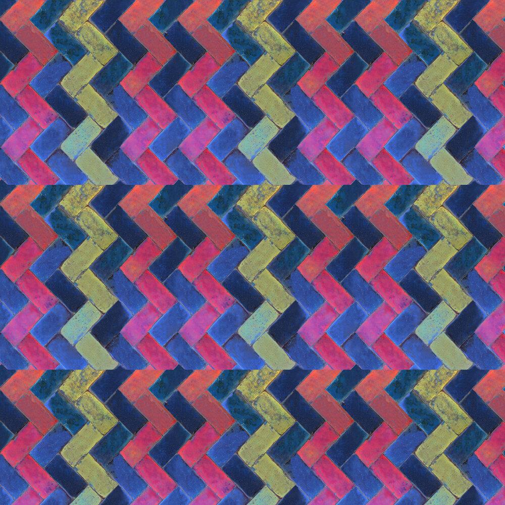 Coordonne Zig Zag Purple / Turquoise Wallpaper - Product code: 3000037