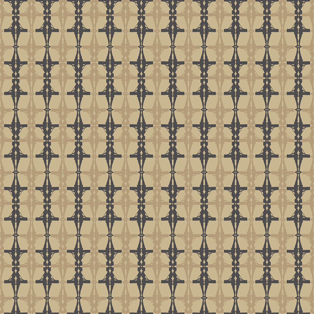 Interval Wallpaper - Gold / Black - by Albany