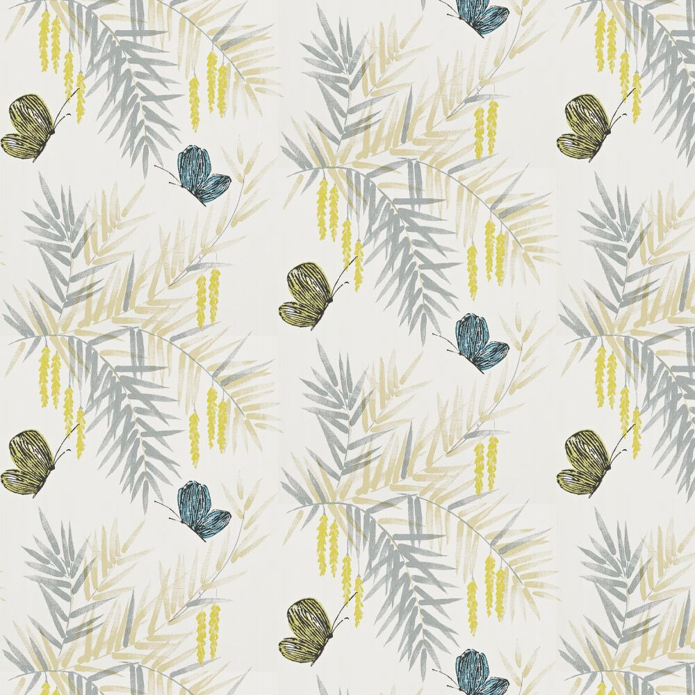 Harlequin Floret Pebble / Green / Blue Wallpaper - Product code: 110676