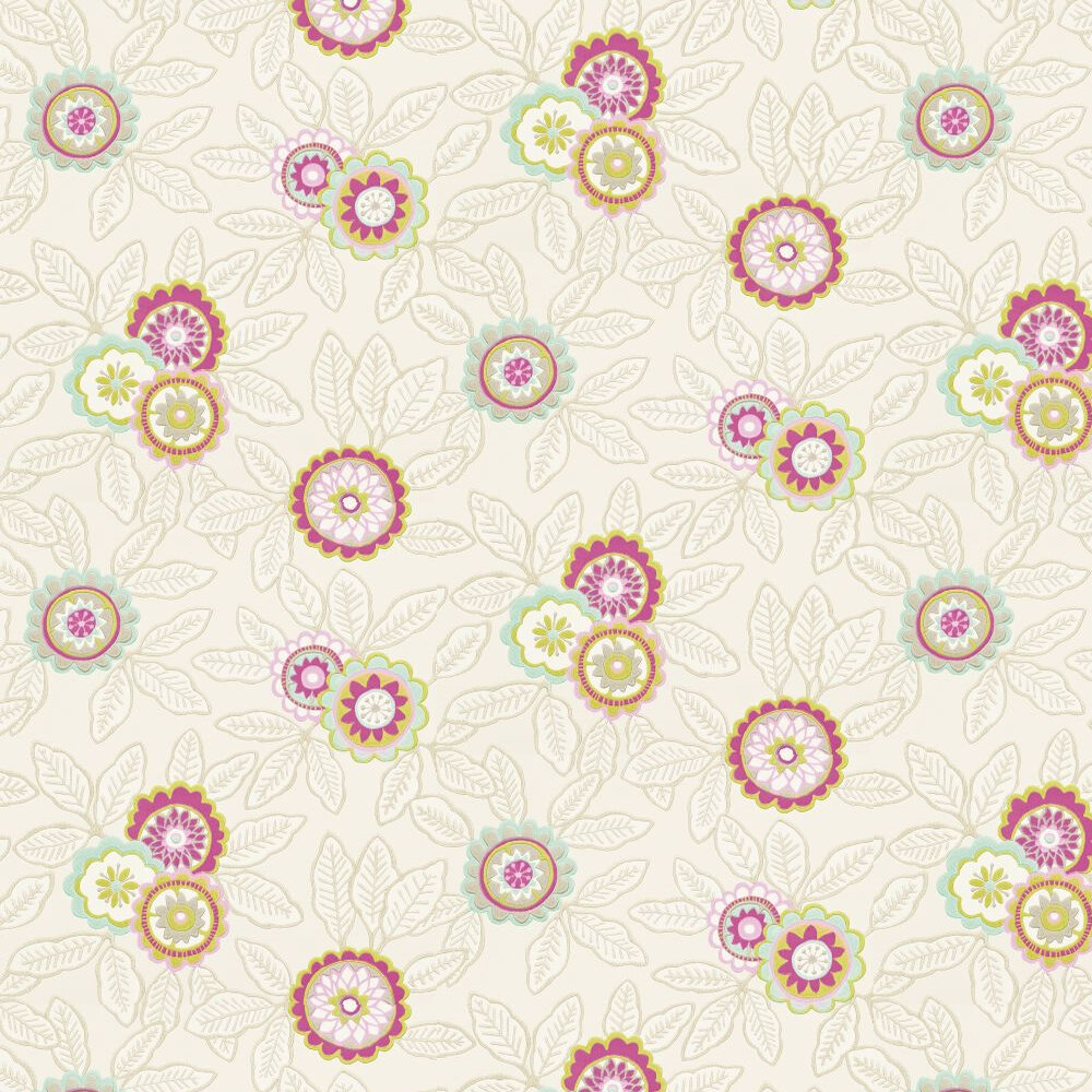 Harlequin Eden Pink / Lemongrass / Cream Wallpaper - Product code: 110680