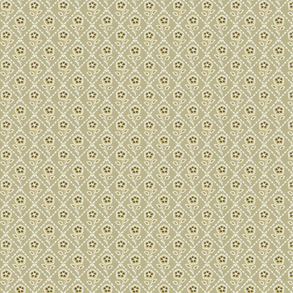 Little Greene Whitehall  Moutarde Wallpaper - Product code: 0284WHMOUTA