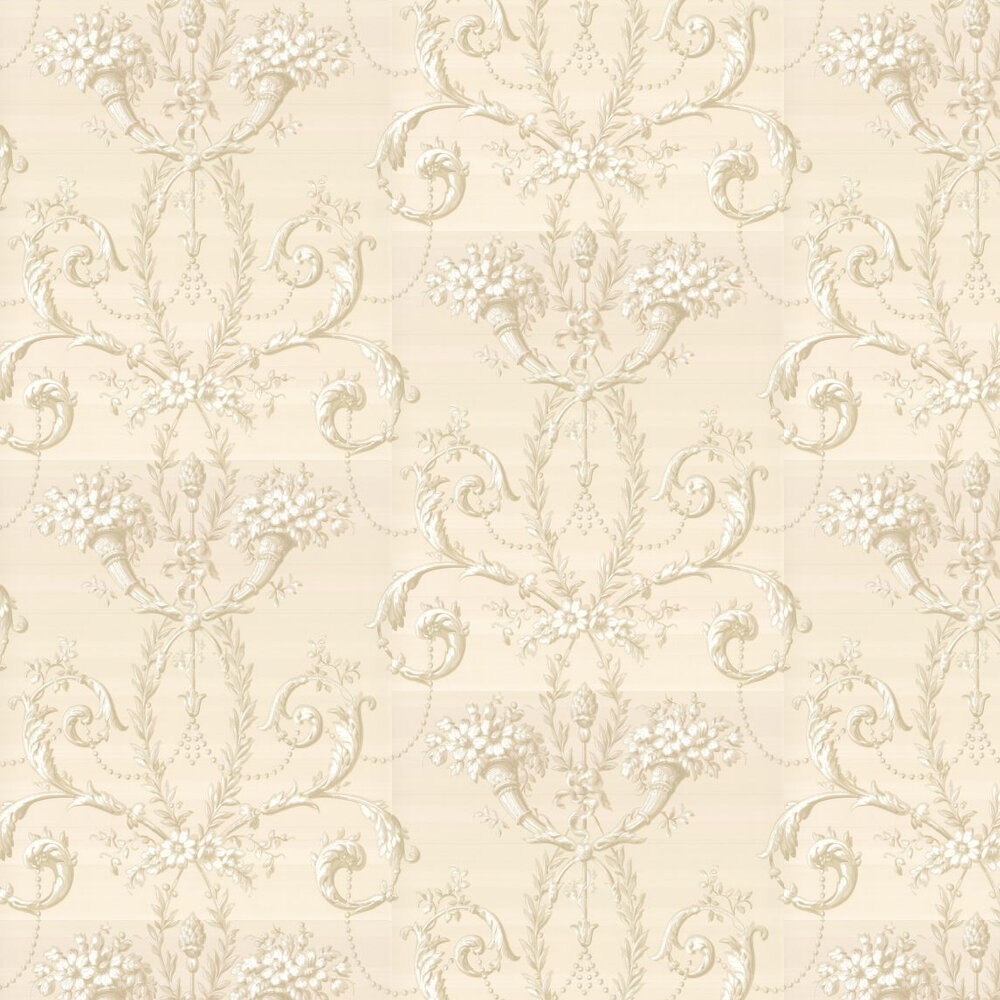 Little Greene Versailles  Dark Pearl Wallpaper - Product code: 0284VEDARKP