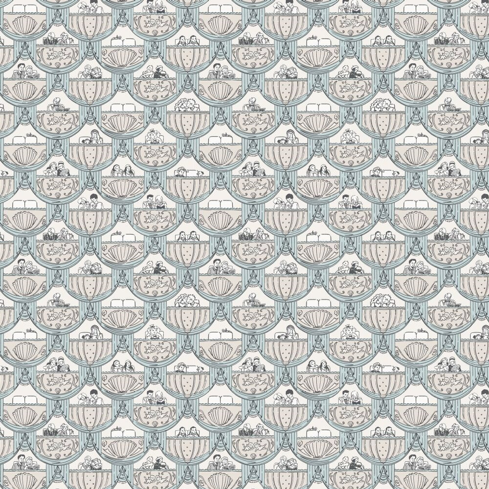 Albany Overture  Blue Wallpaper - Product code: 264820