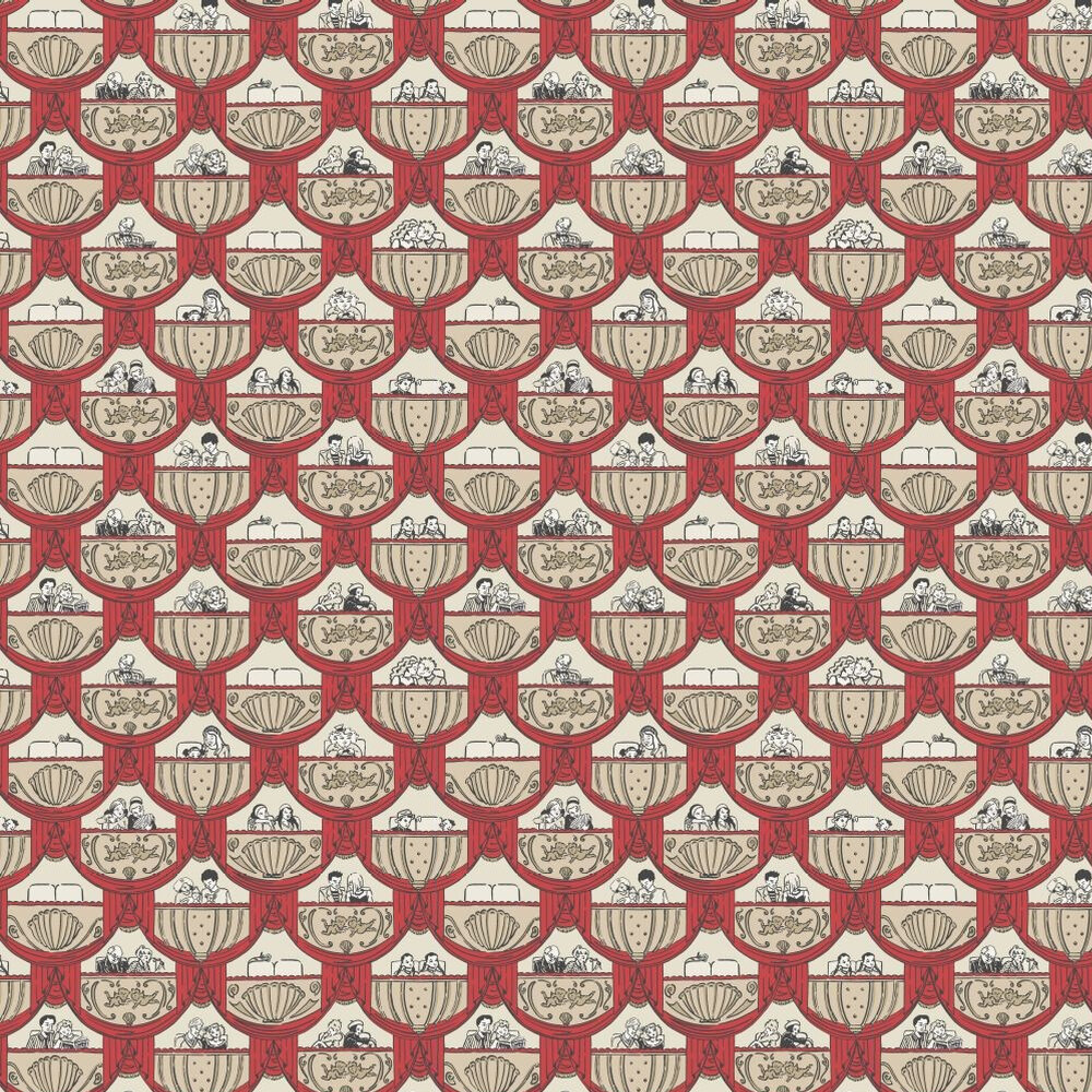 Albany Overture  Red Wallpaper - Product code: 264837