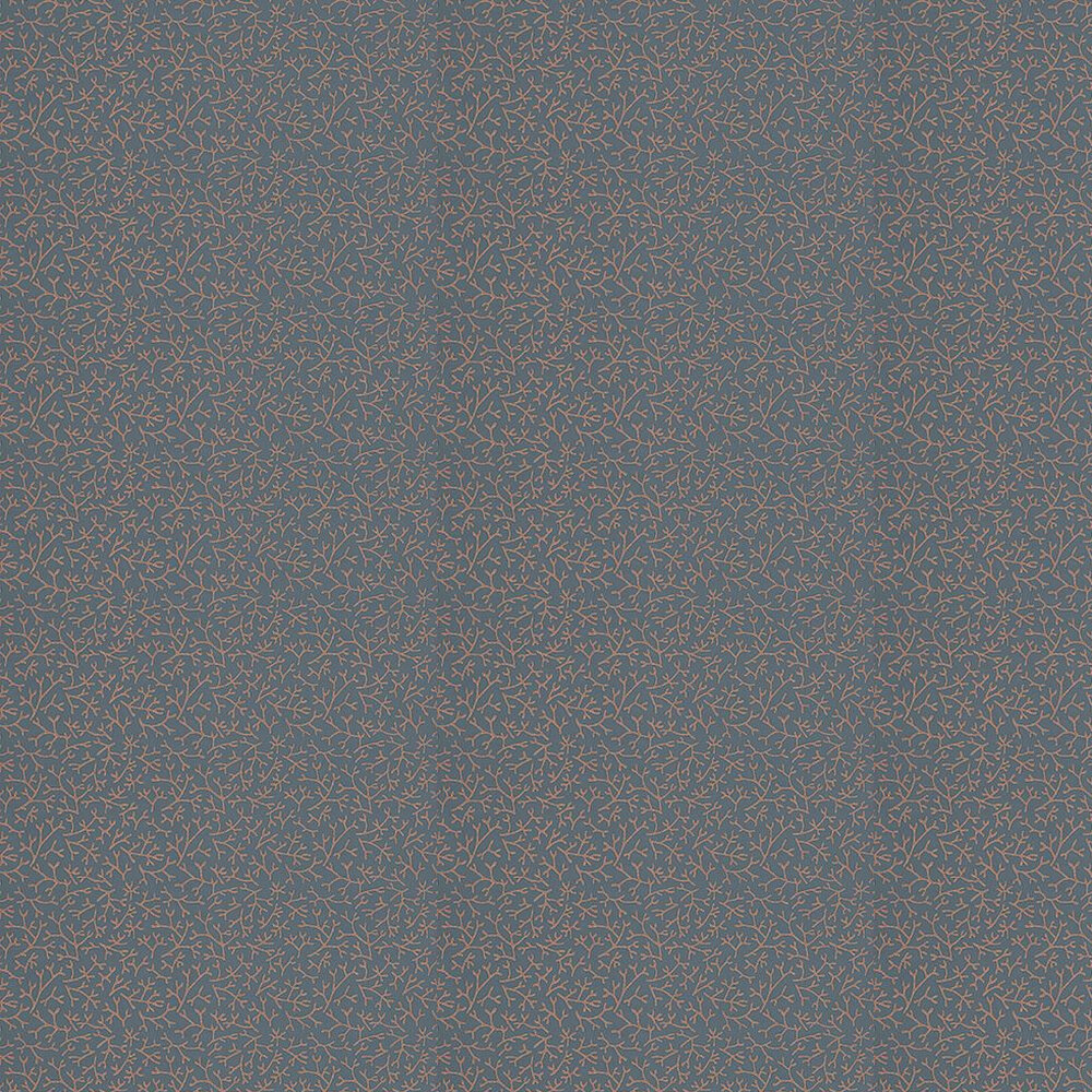 Farrow & Ball Samphire Navy/ Burnt Orange Wallpaper - Product code: BP 4005