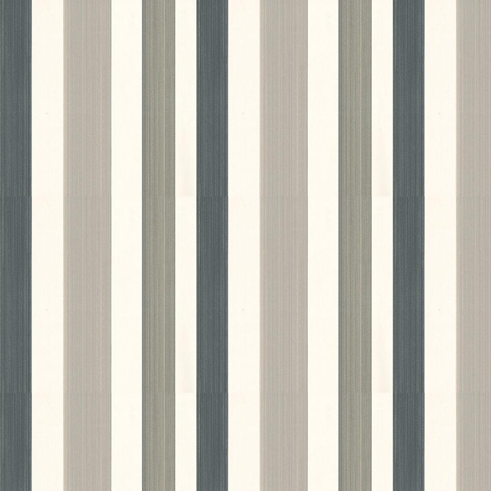 Chromatic Stripe Wallpaper - Brown/ Grey/ Black/ White - by Farrow & Ball