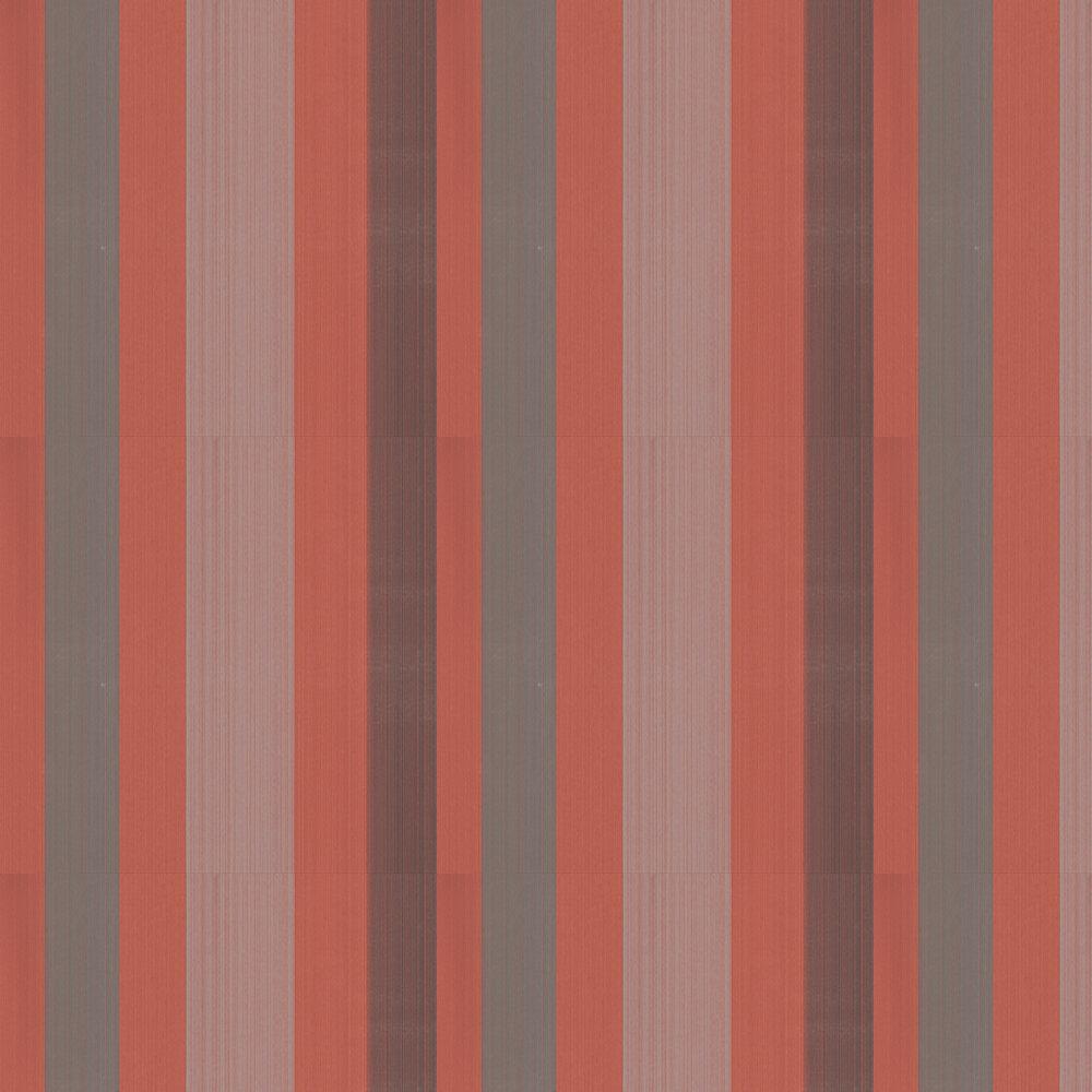 Farrow & Ball Chromatic Stripe Red/ Brown/ Grey Wallpaper - Product code: BP 4203