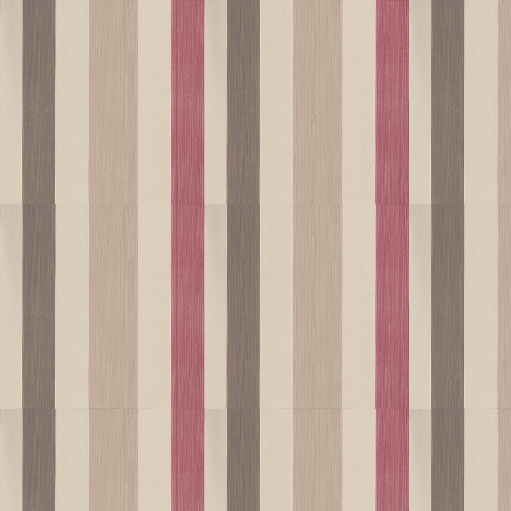 Farrow & Ball Chromatic Stripe Cream/ Pink/ Taupe/ Brown Wallpaper - Product code: BP 4204