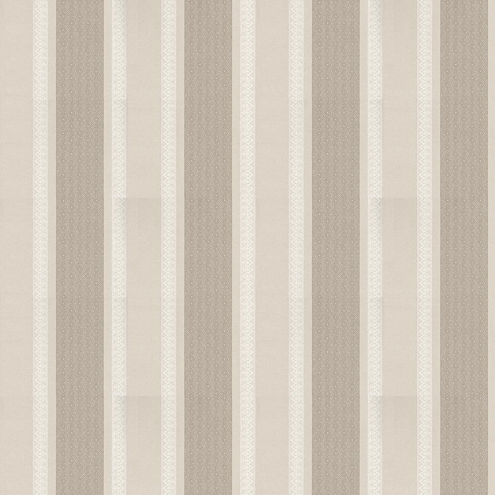 Osborne & Little Chantilly Stripe Taupe / Off White / Grey Wallpaper - Product code: W6595-01