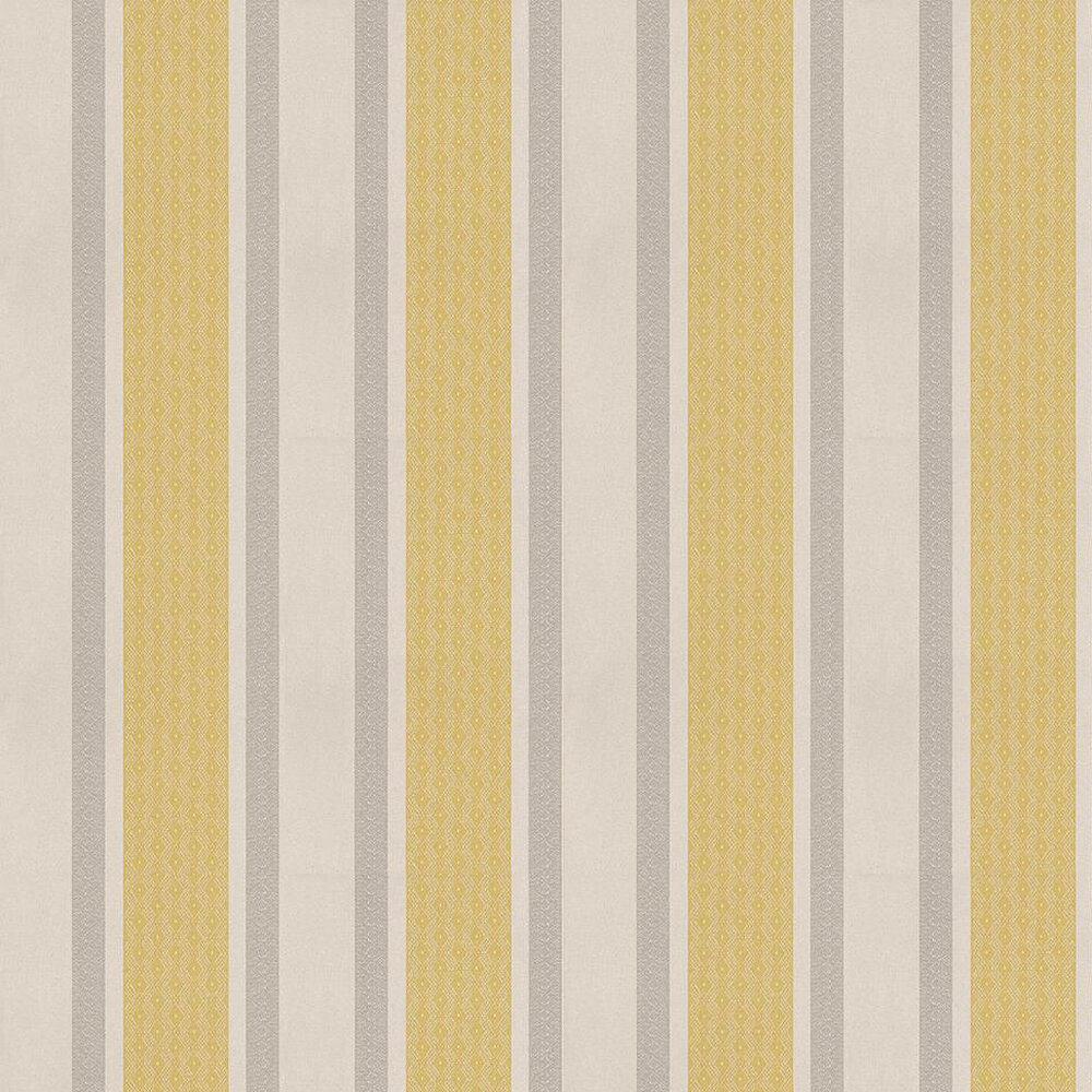 Osborne & Little Chantilly Stripe Taupe / Green / Grey Wallpaper - Product code: W6595-02