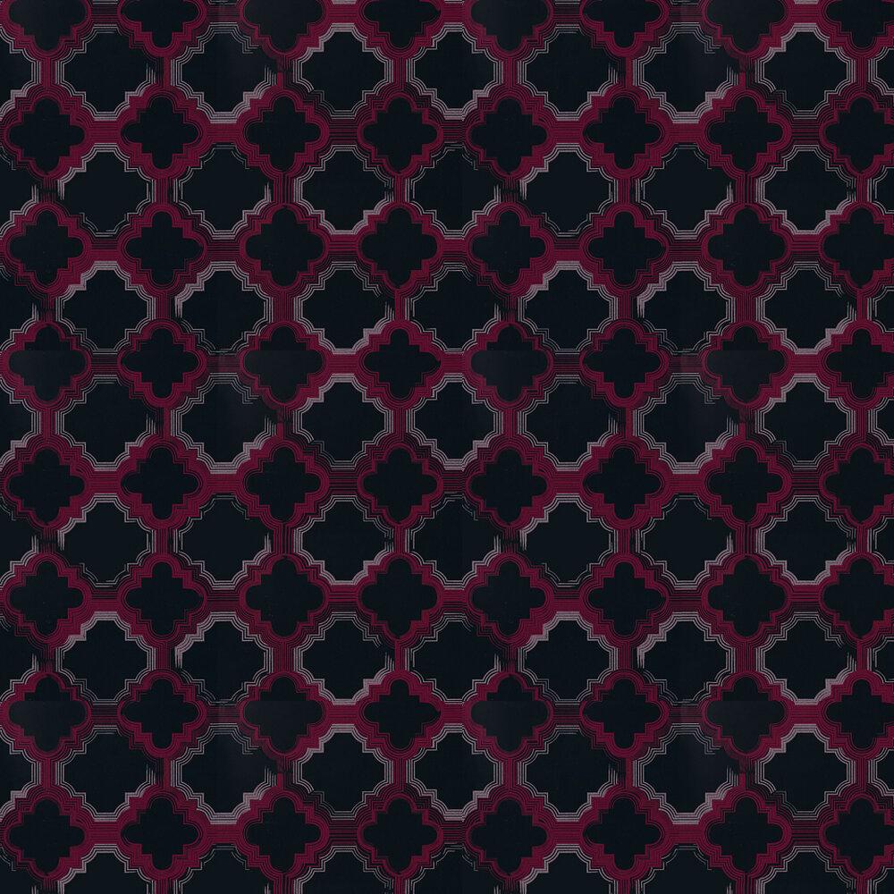 Osborne & Little Quartefoil Gilver / Duck Egg Wallpaper - Product code: W6599-02
