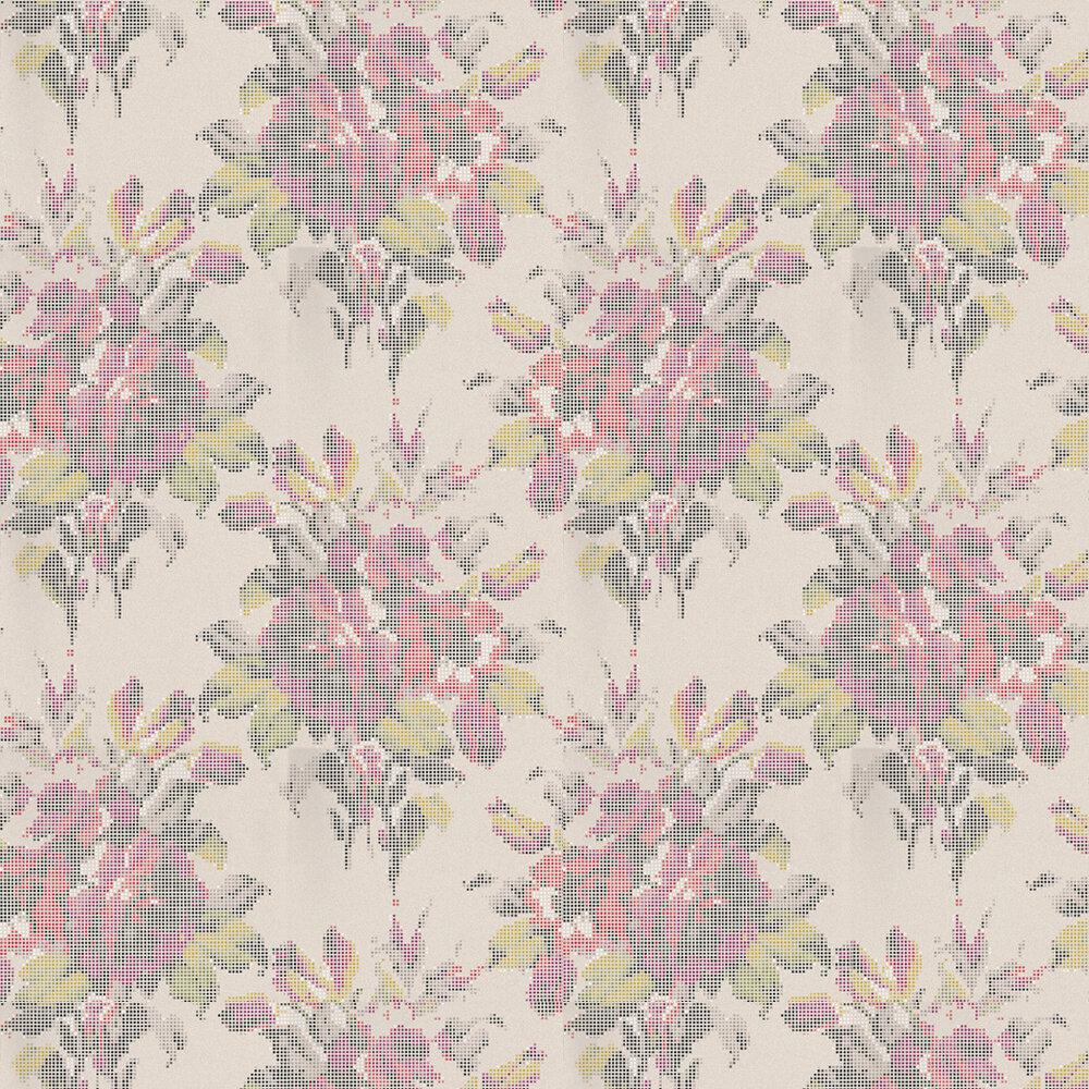Osborne & Little Pot Pourri Red / Lime / Fuchsia Wallpaper - Product code: W6598-01