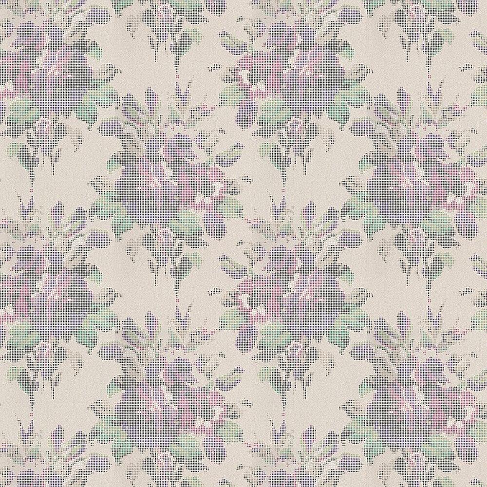 Osborne & Little Pot Pourri Turquoise / Purple / Fuchsia Wallpaper - Product code: W6598-02