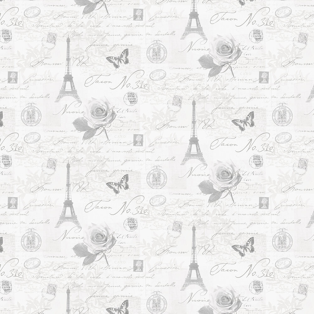Calligraphy Wallpaper - Soft Grey - by Albany
