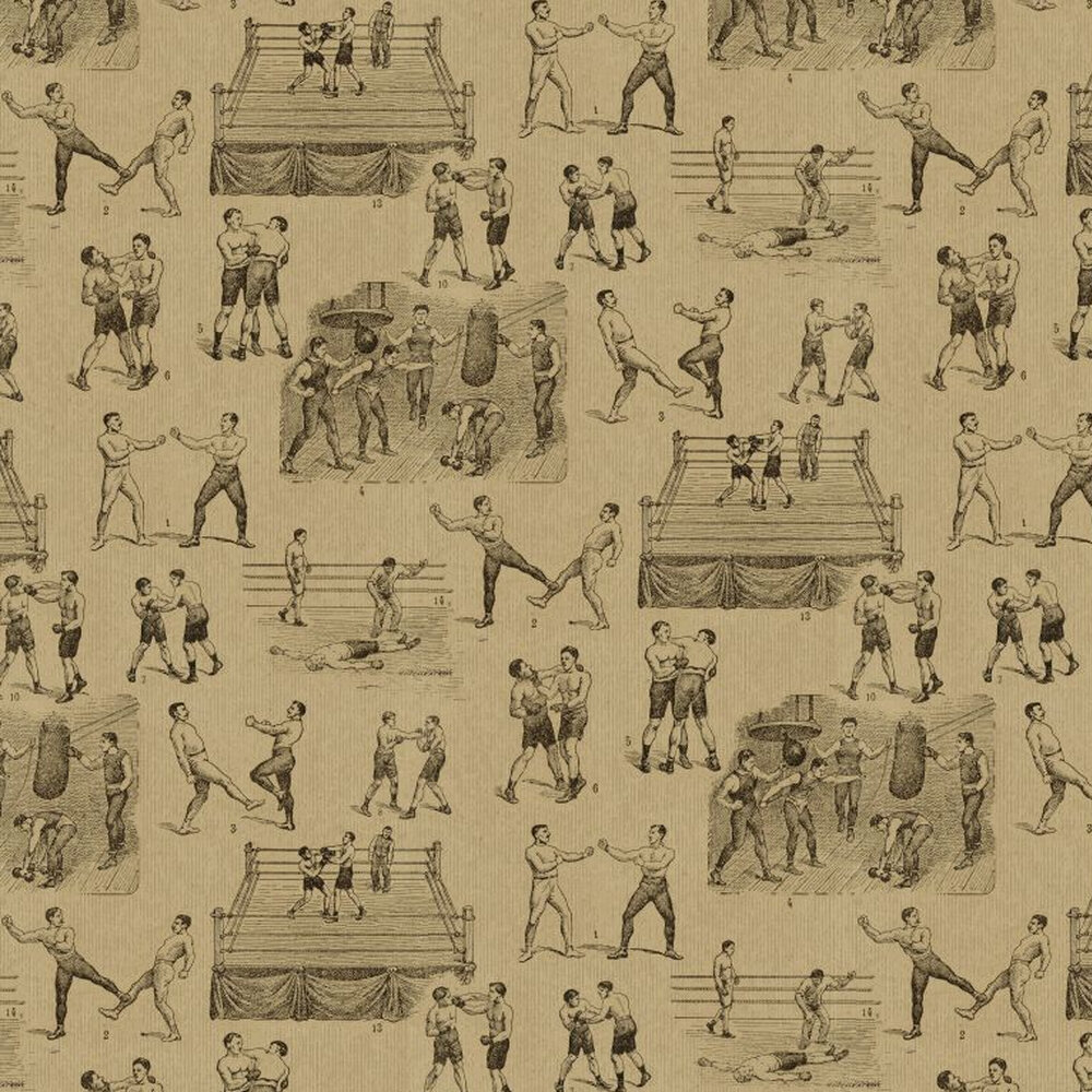 Linwood Queensbury Brown / Black Wallpaper - Product code: LW21/1