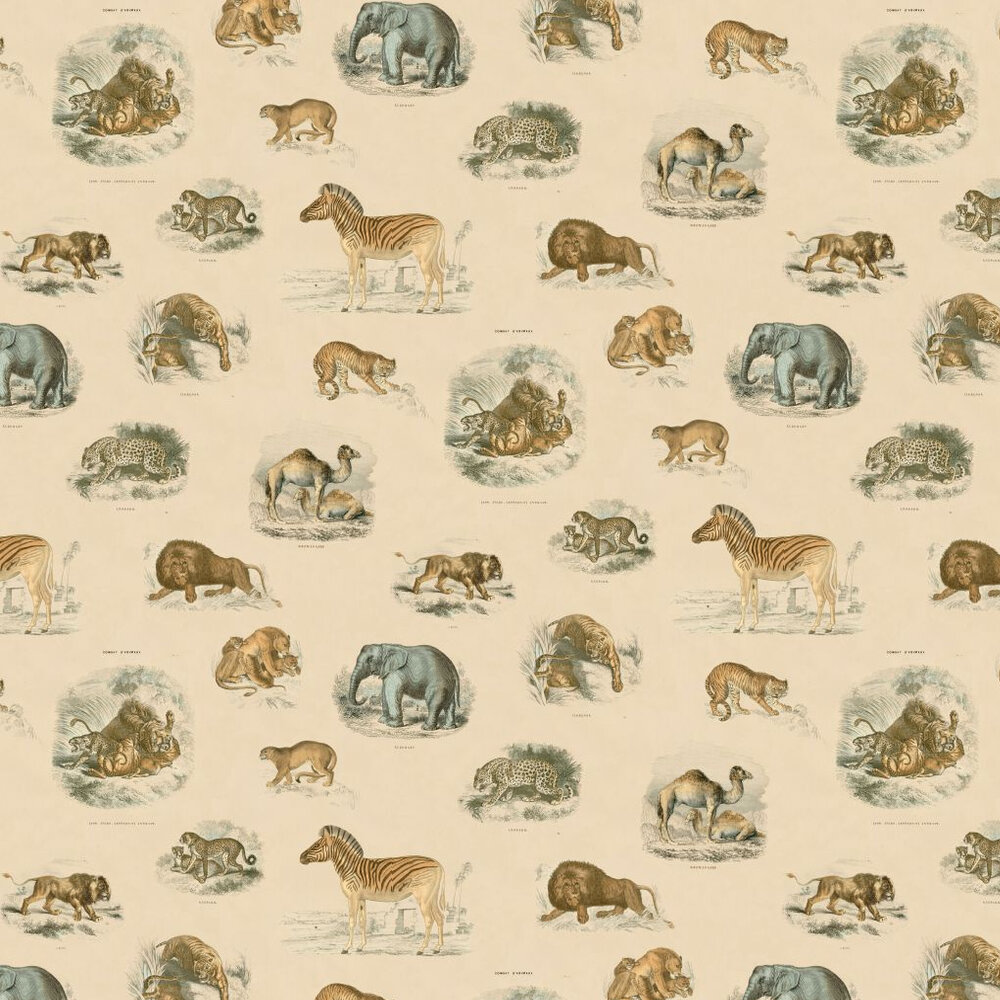 Fierce Creatures Wallpaper - Multi - by Linwood