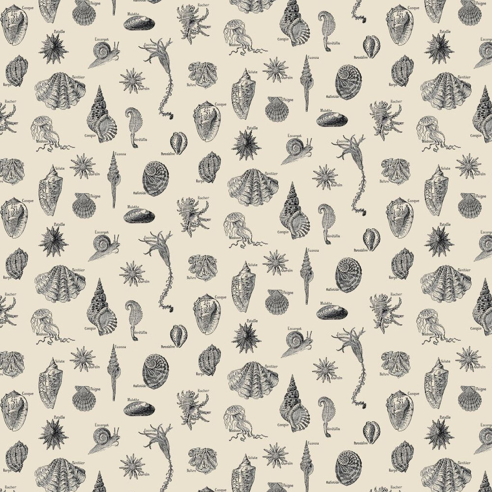 Linwood Low Tide Lunch Black / Cream Wallpaper - Product code: LW37/1