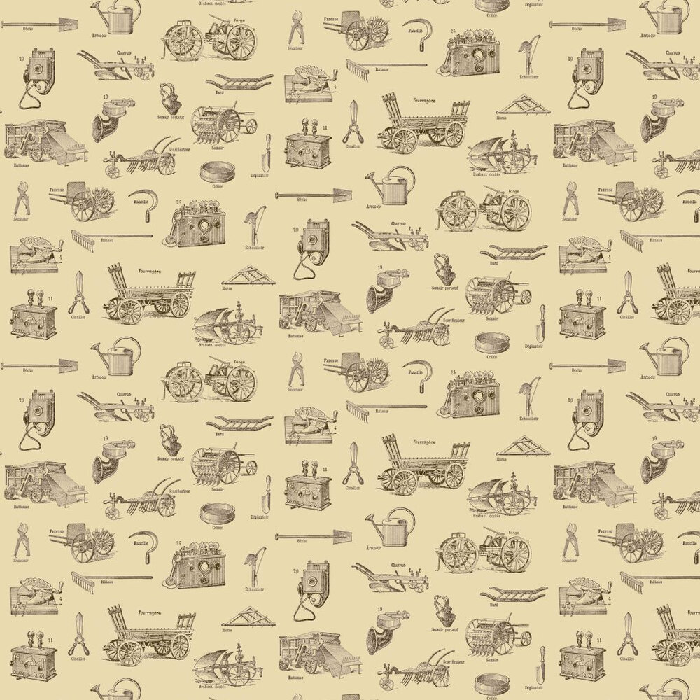 Linwood Tooled Up Cream / Brown Wallpaper - Product code: LW33/1