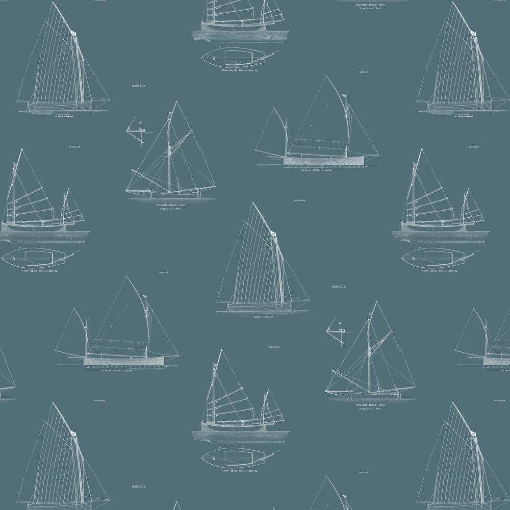 Finisterre Wallpaper - Blue - by Linwood