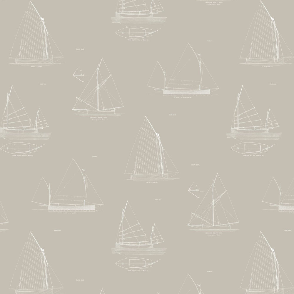 Linwood Cromarty White / Grey Wallpaper - Product code: LW32/3