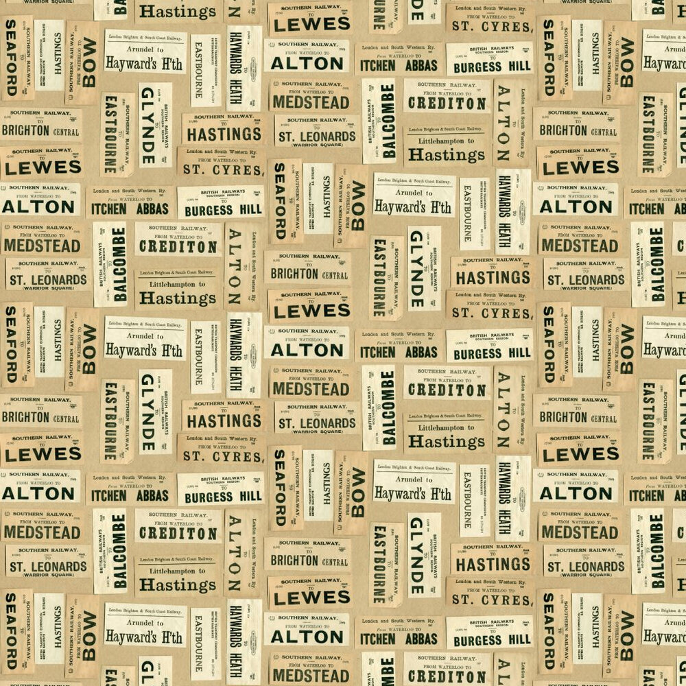 Linwood Harry's Journey Multi / Beige Wallpaper - Product code: LW39/1