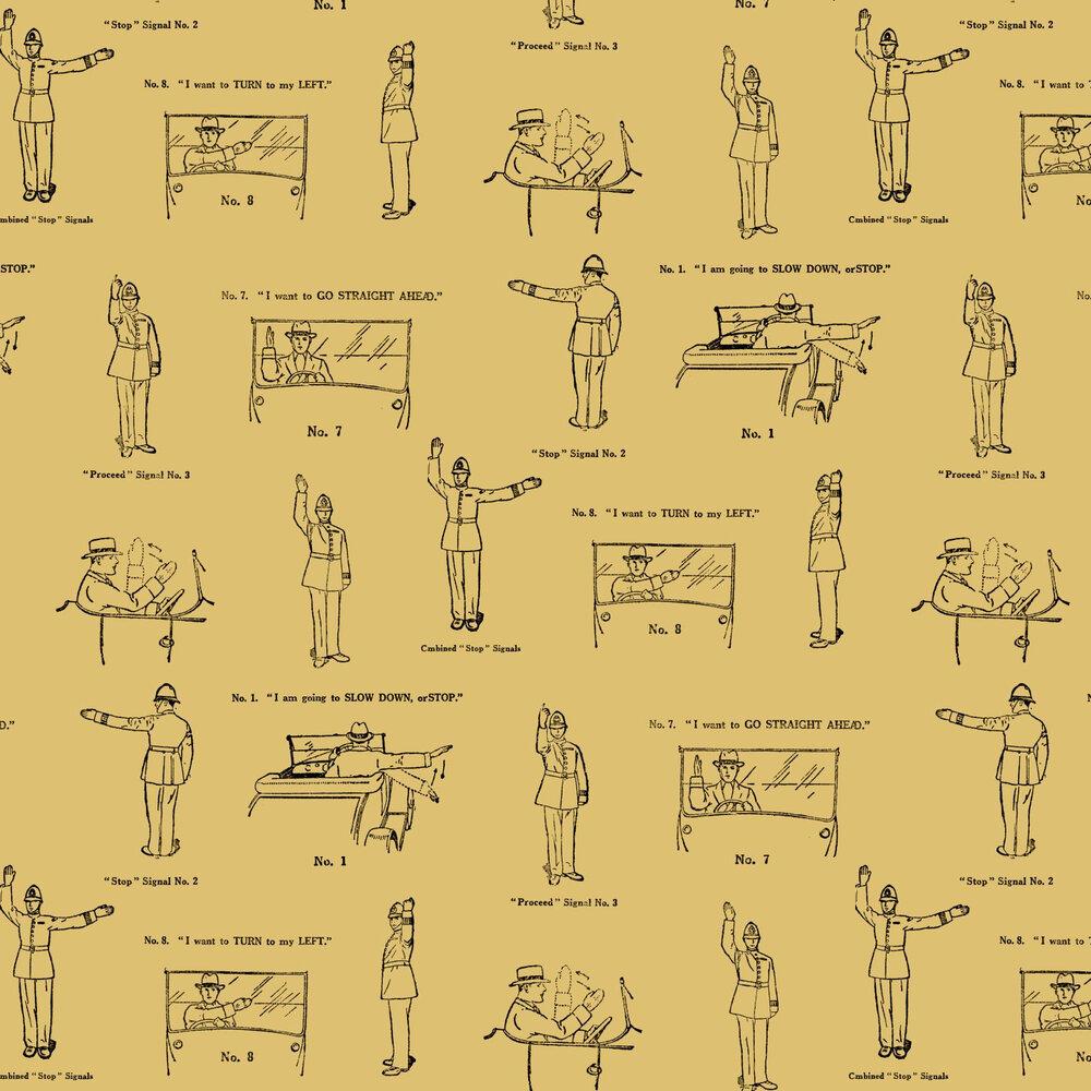 Linwood No Left Turn Yellow Wallpaper - Product code: LW47/1