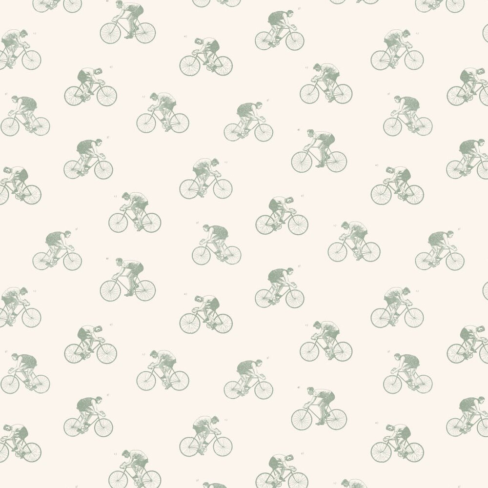 Linwood The Tour Duck Egg / Off White Wallpaper - Product code: LW45/1