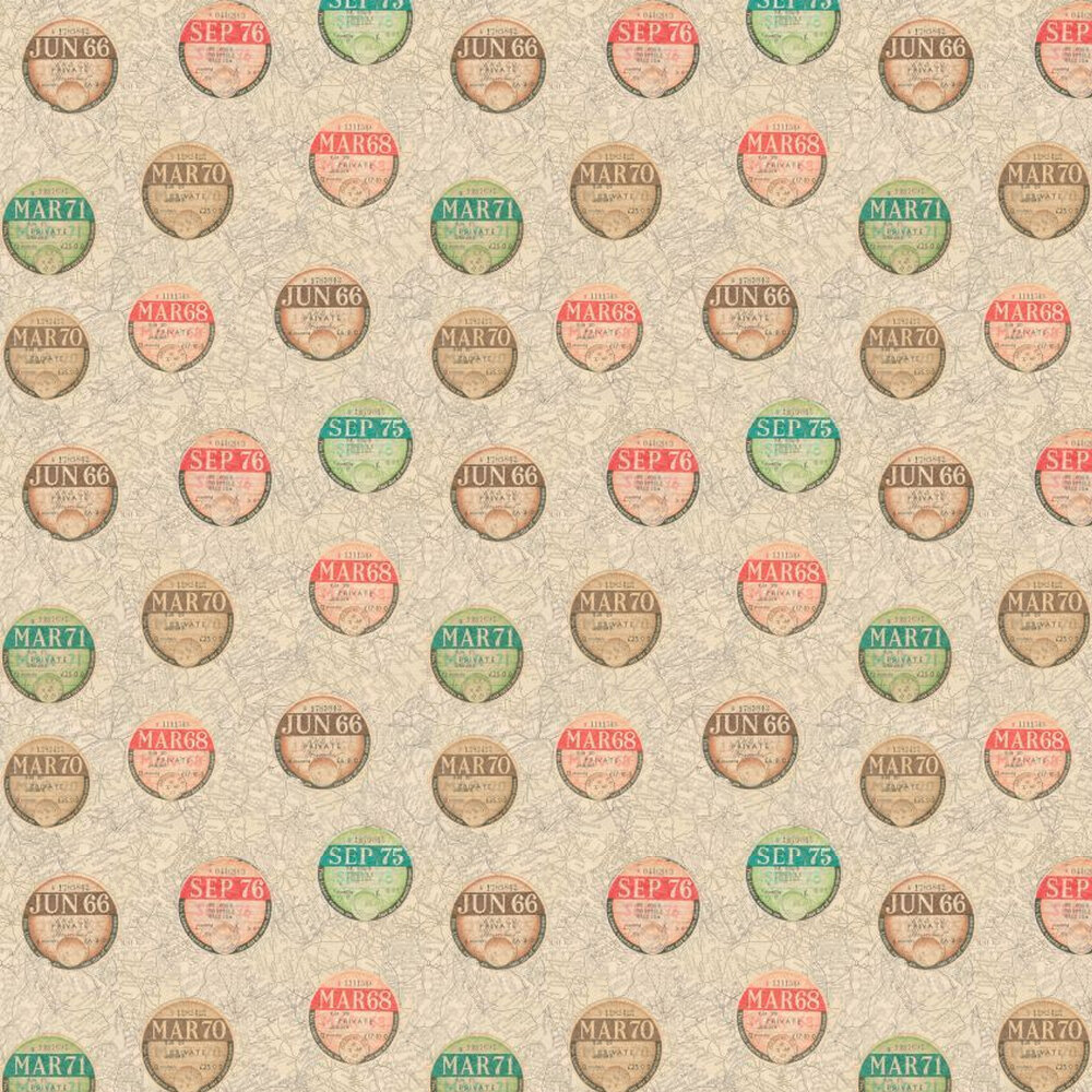 Linwood On The Road Red / Green / Brown Wallpaper - Product code: LW42/1