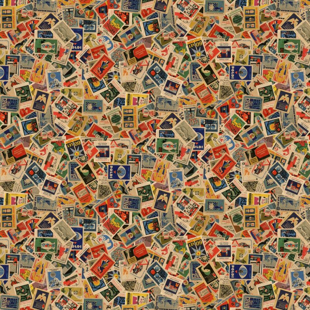 Linwood Mental Bloc Multi Wallpaper - Product code: LW53/1