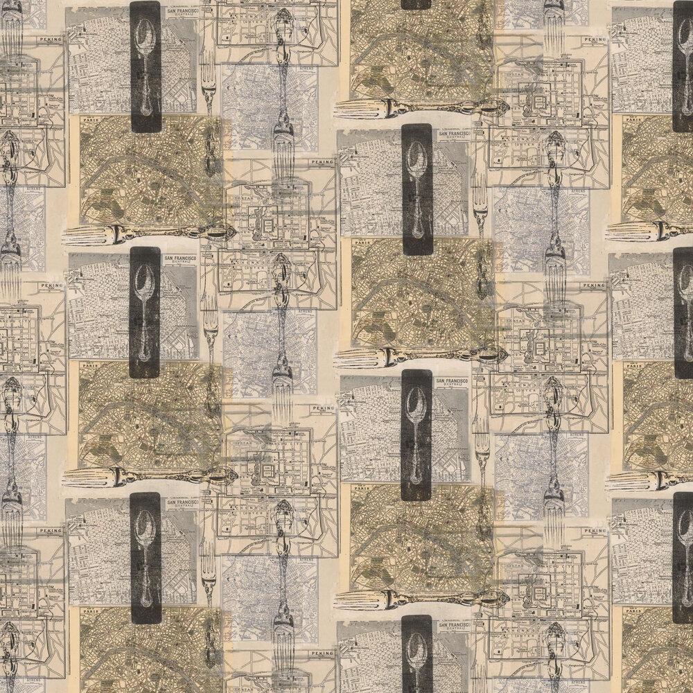 Linwood Cartophily Brown / Grey / Black Wallpaper - Product code: LW1448/1