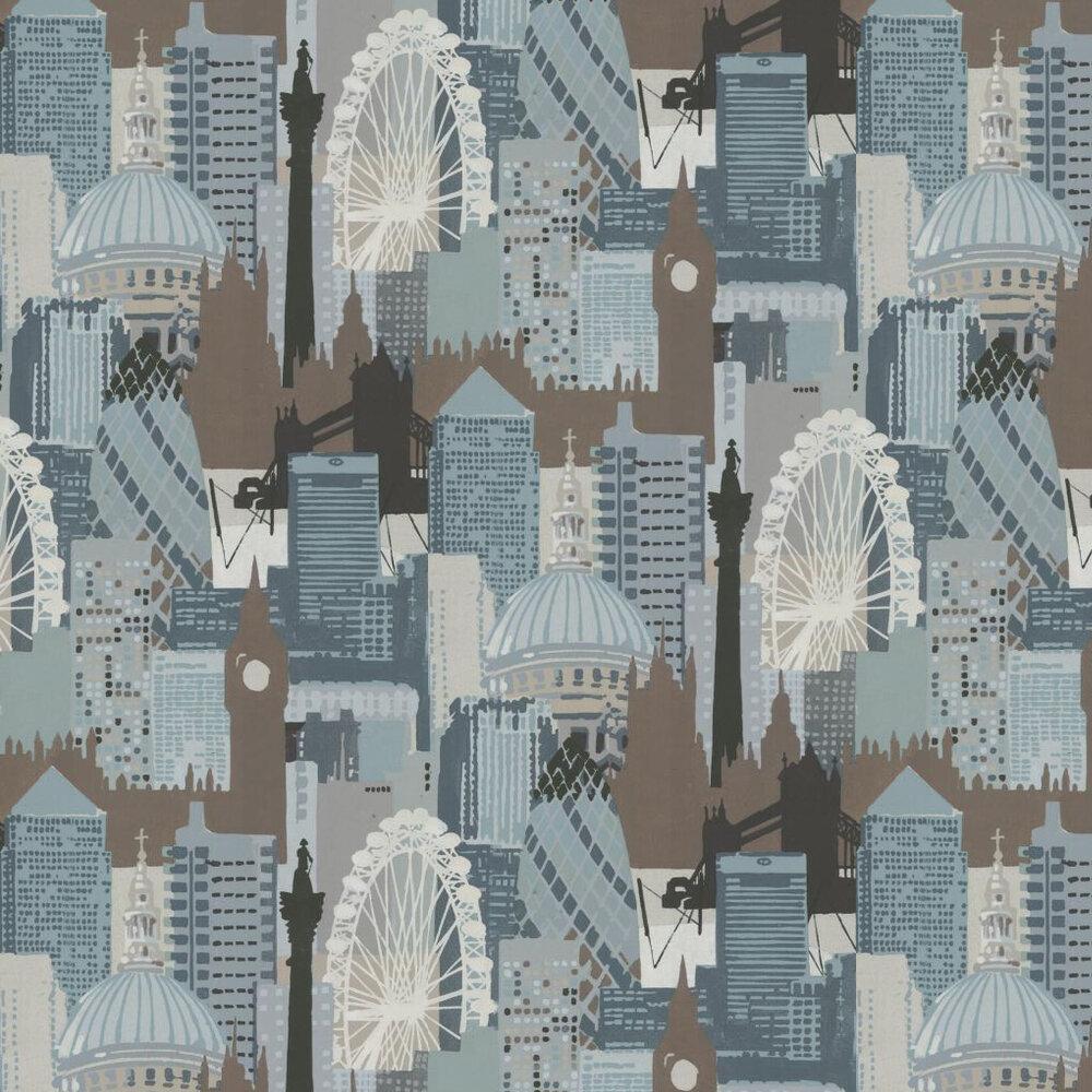 Linwood London Skyline Teal / Chocolate Wallpaper - Product code: LW1454/1