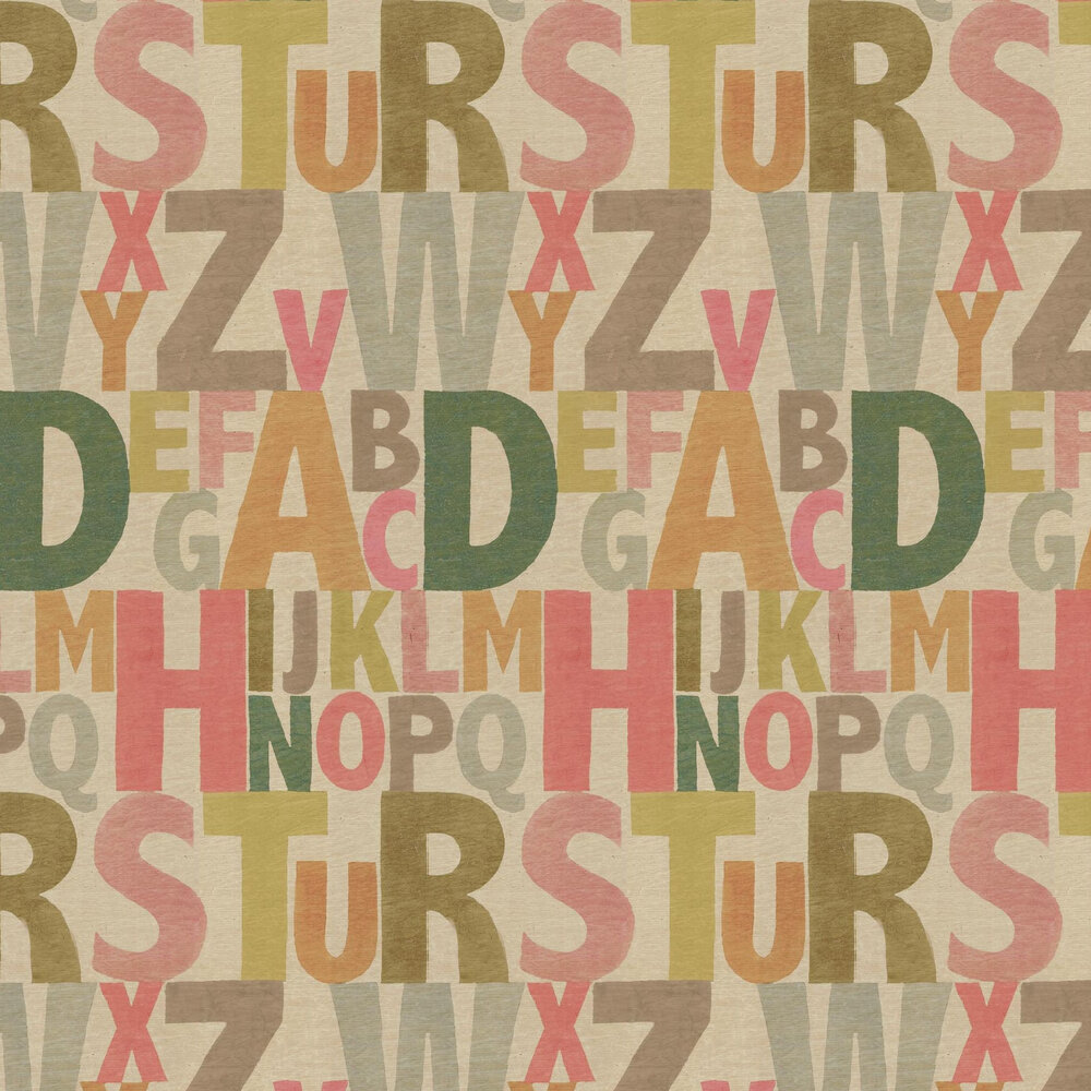 Linwood Rainbow Letters Multi Wallpaper - Product code: LW1450/1