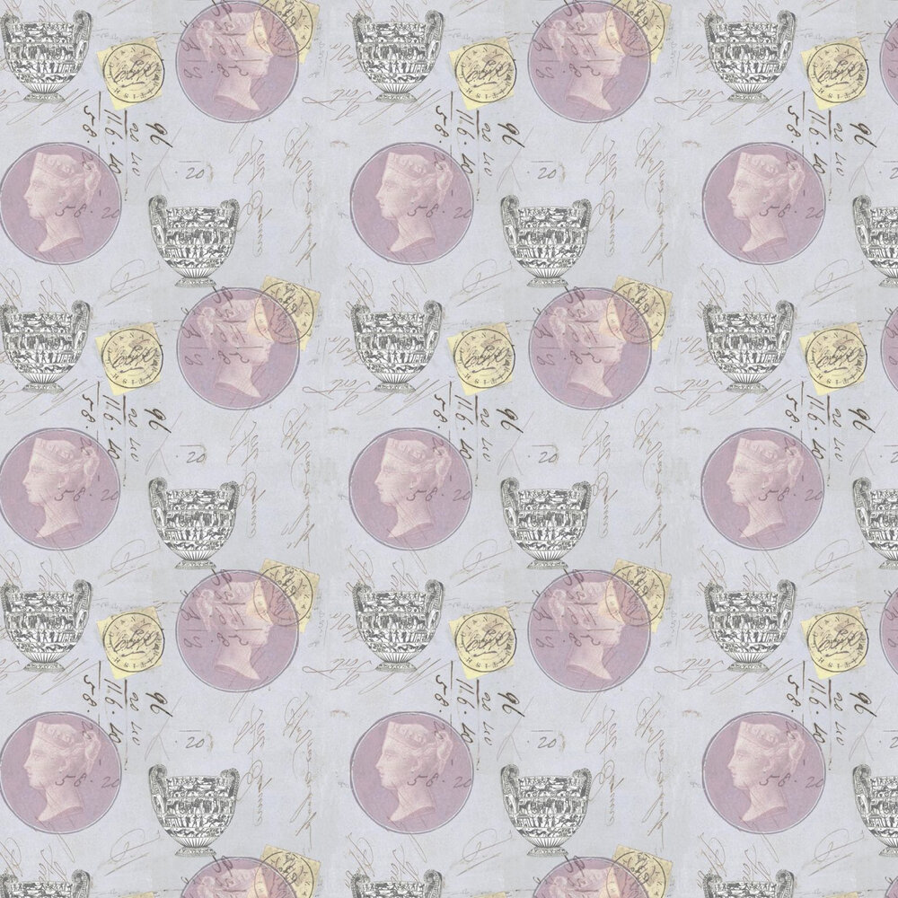 Linwood Antiquity Lavender Wallpaper - Product code: LW1462/1