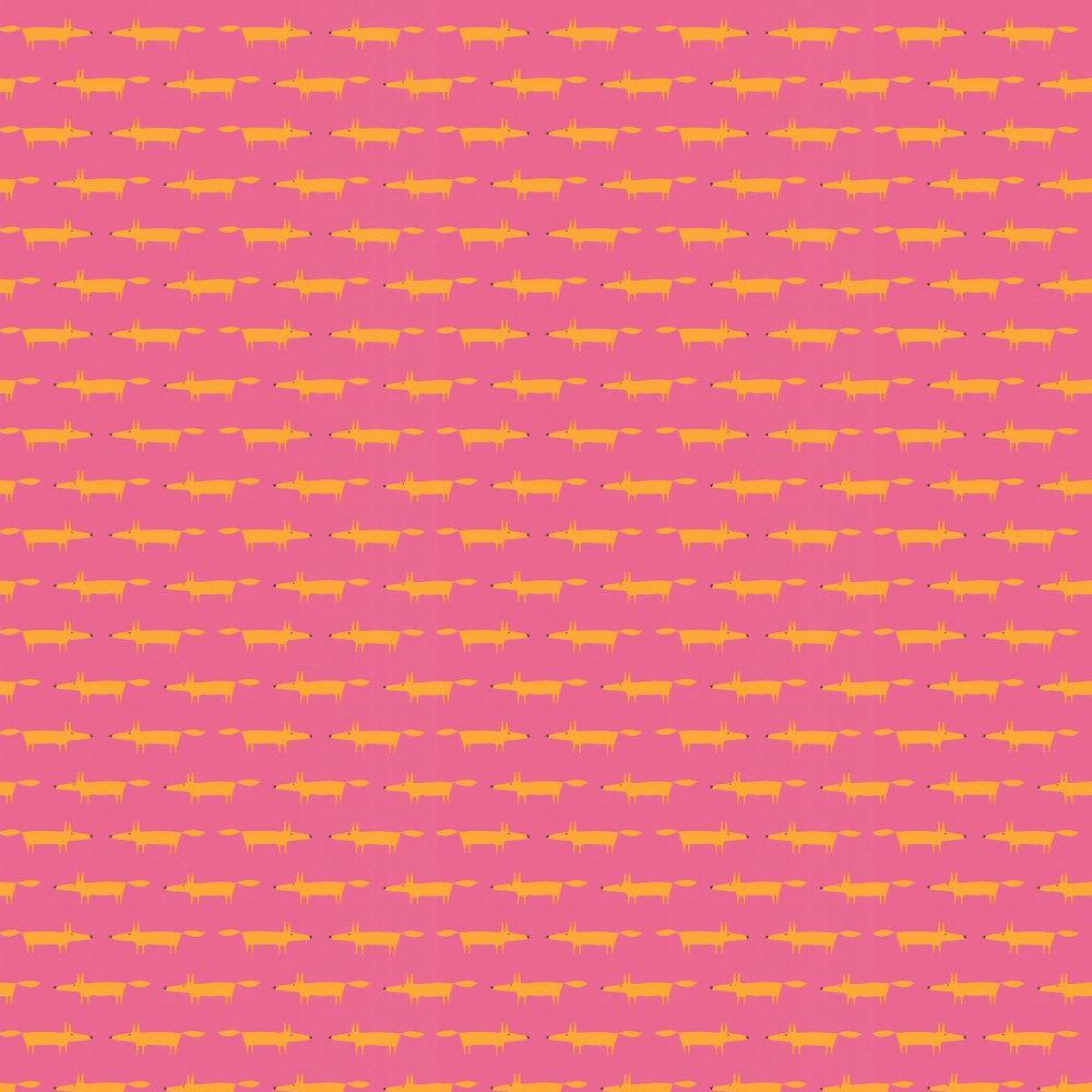 Little Fox Wallpaper - Fuschia - by Scion