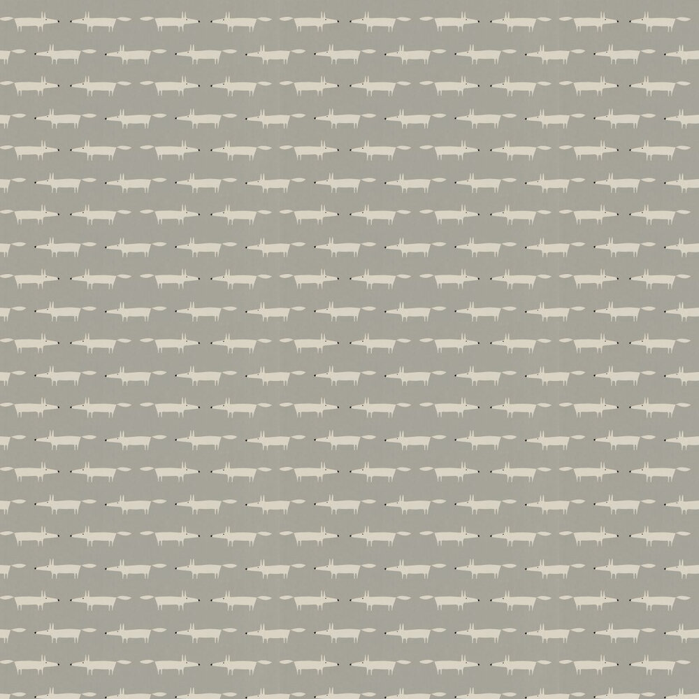 Little Fox Wallpaper - Silver  - by Scion