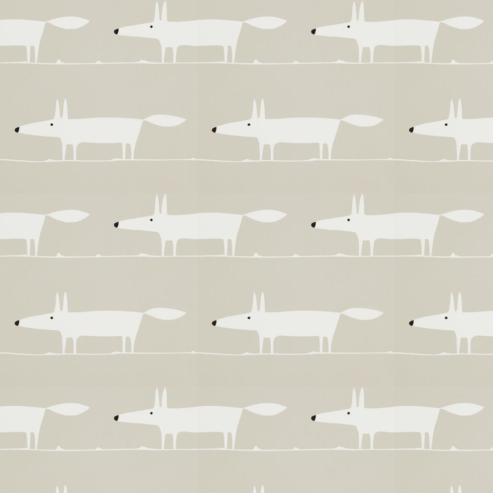 Scion Mr Fox Snow  Wallpaper - Product code: 110845