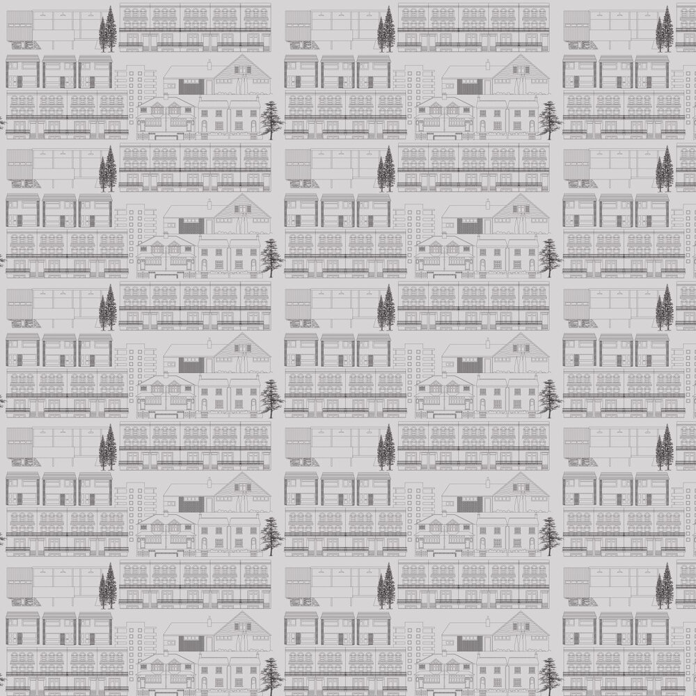 Do You Live in a Town  Wallpaper - Concrete - by Mini Moderns
