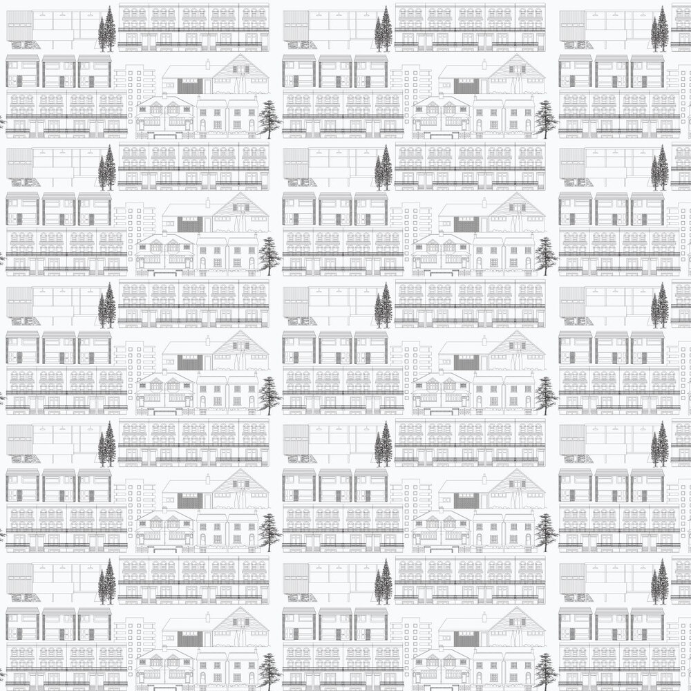 Mini Moderns Do You Live in a Town  Snow Wallpaper - Product code: AZDPT001 Snow