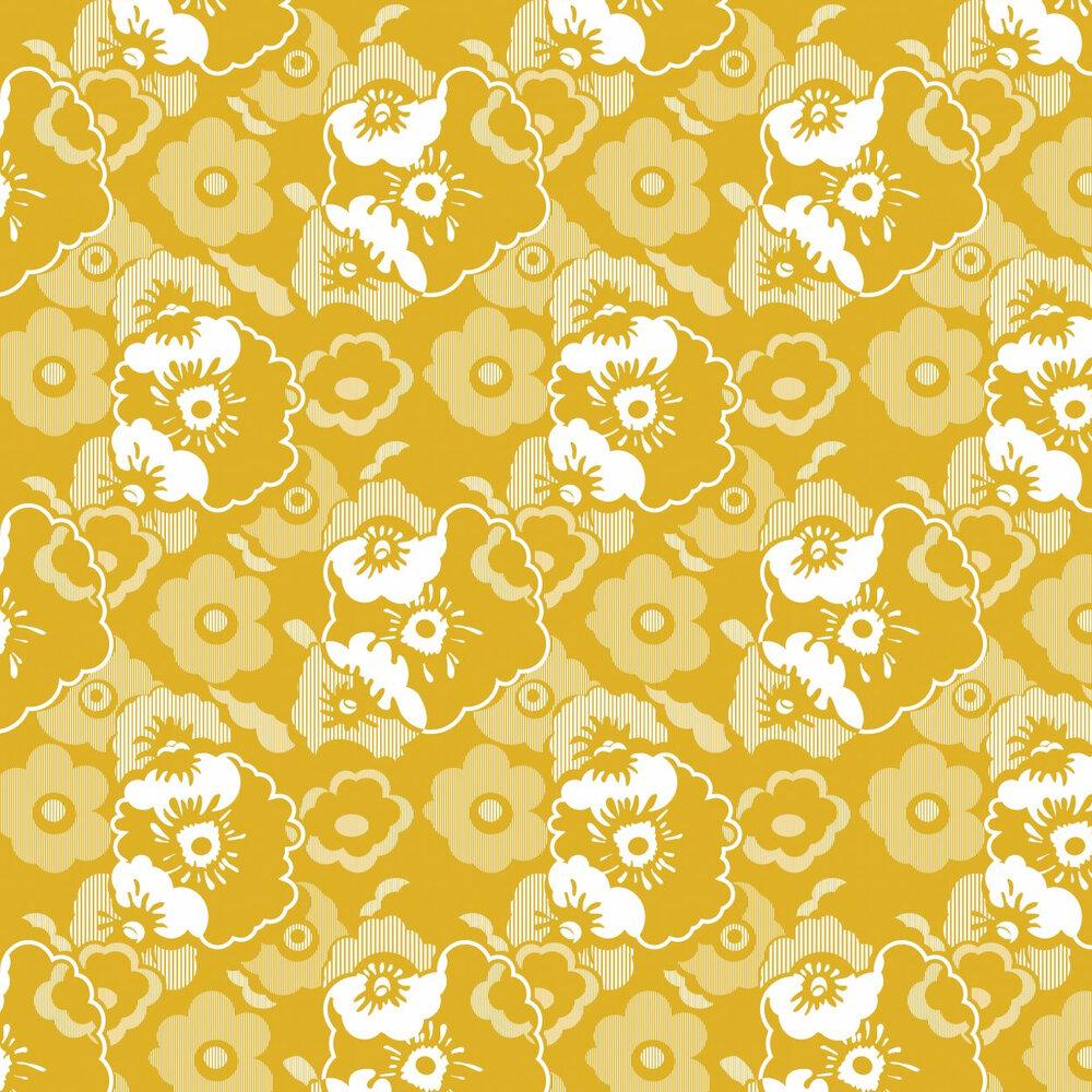 Mini Moderns Alice  Mustard Wallpaper - Product code: AZDPT011 Mustard