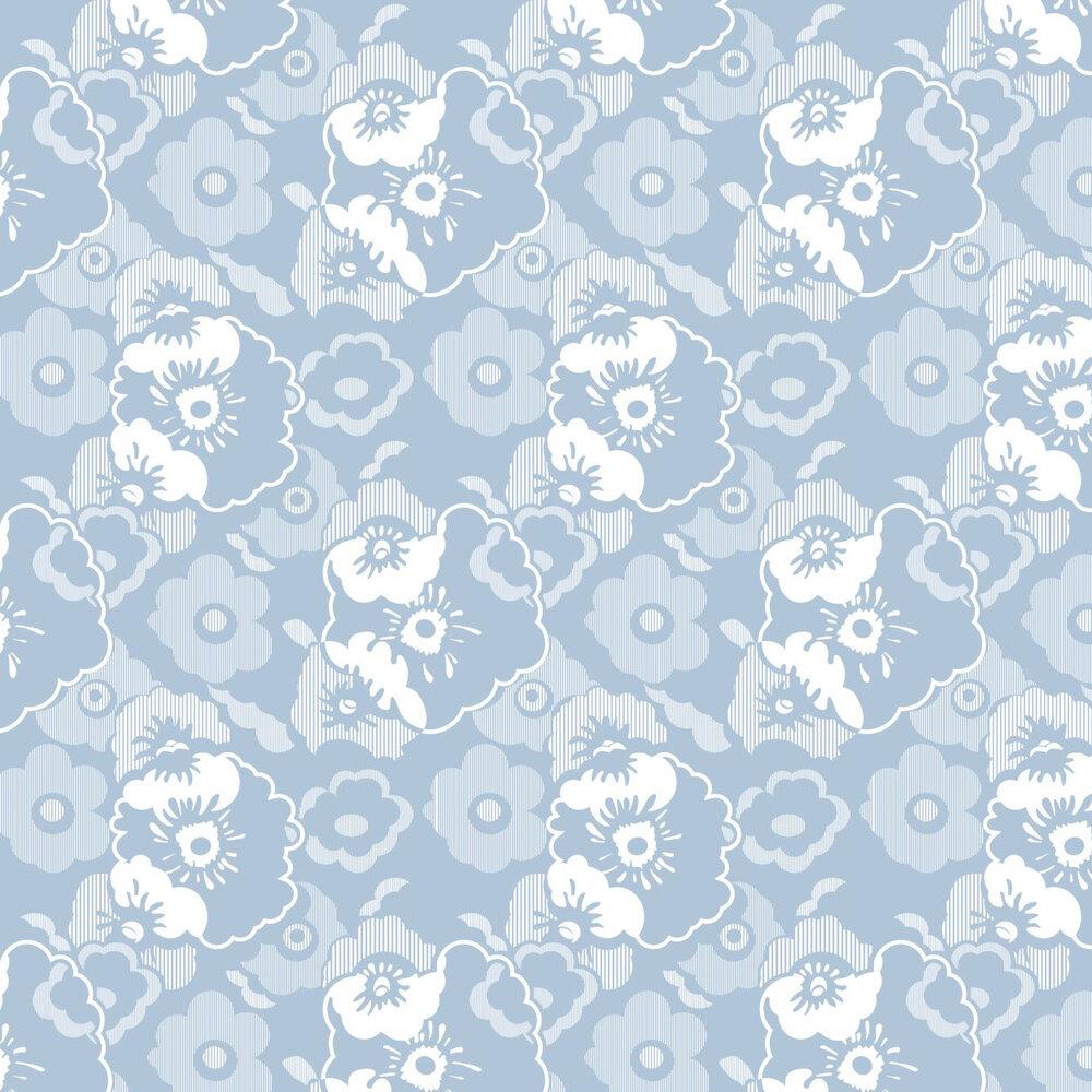 Mini Moderns Alice  Powder Blue Wallpaper - Product code: AZDPT011 Powder