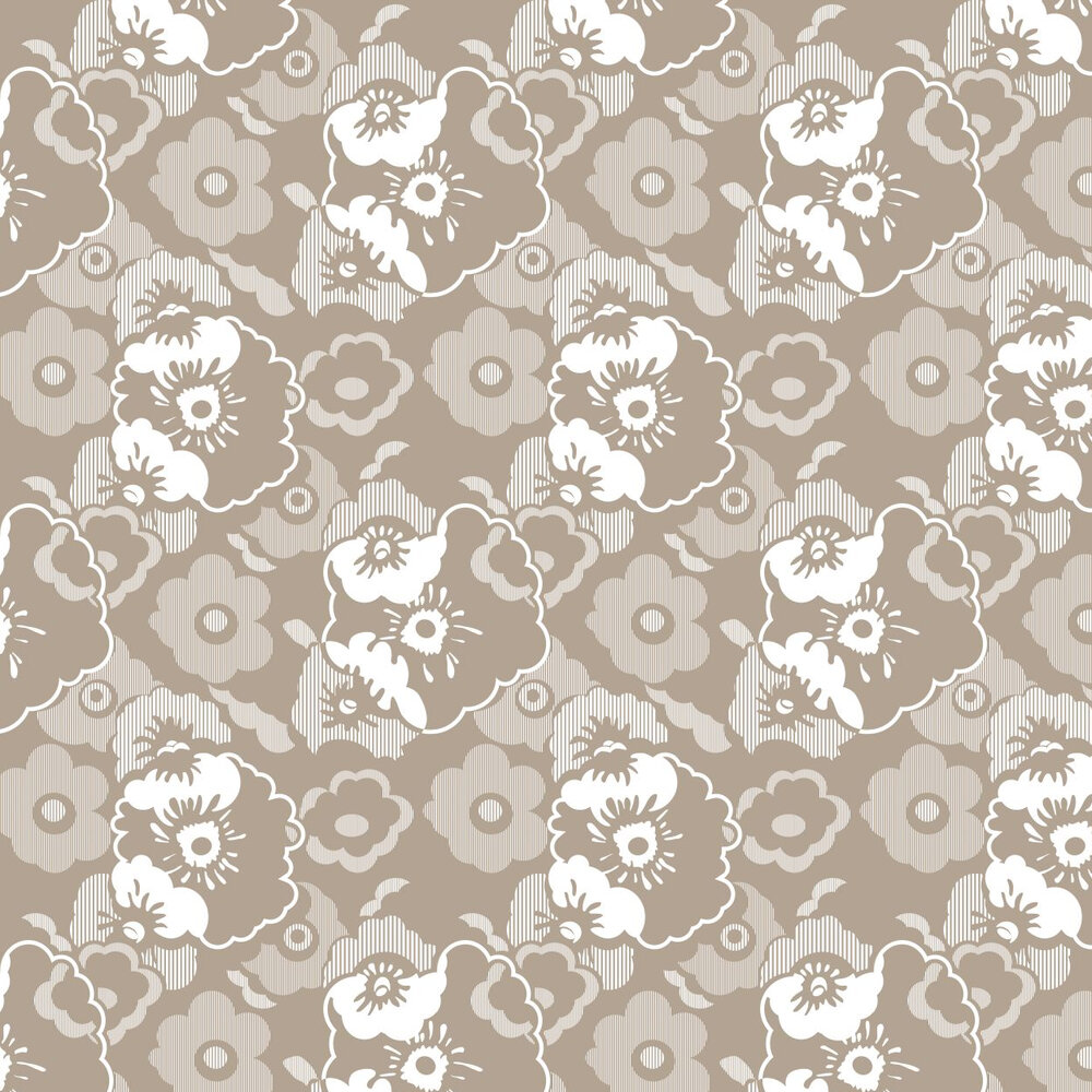 Alice  Wallpaper - Weathered Cedar - by Mini Moderns