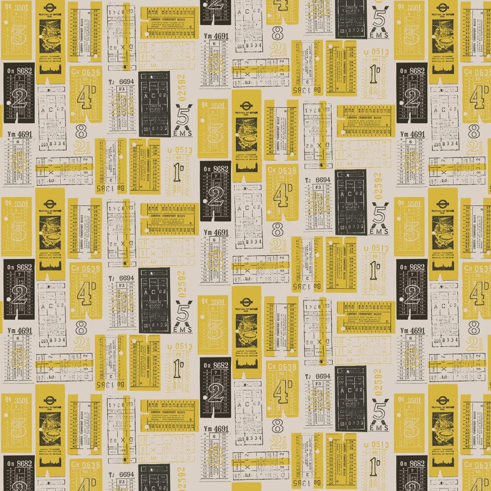 Hold Tight  Wallpaper - Mustard - by Mini Moderns