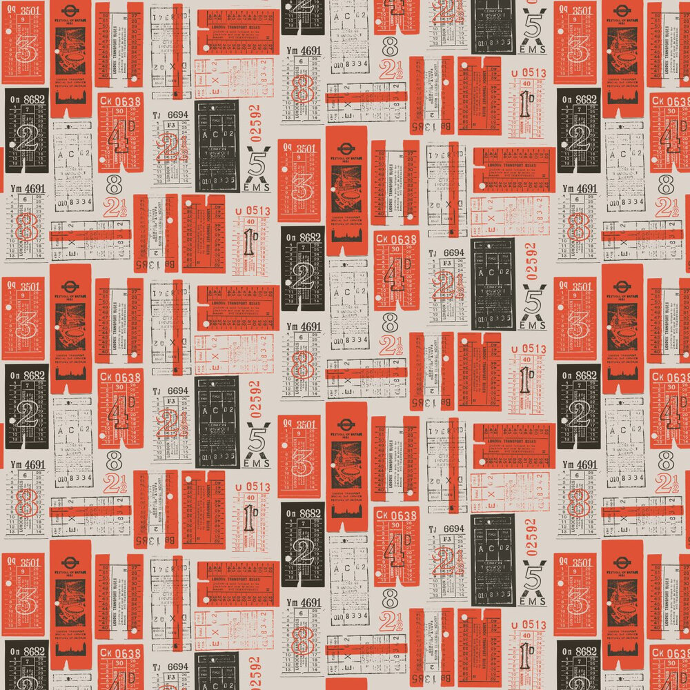 Mini Moderns Hold Tight  Harvest Orange Wallpaper - Product code: AZDPT017 Orange
