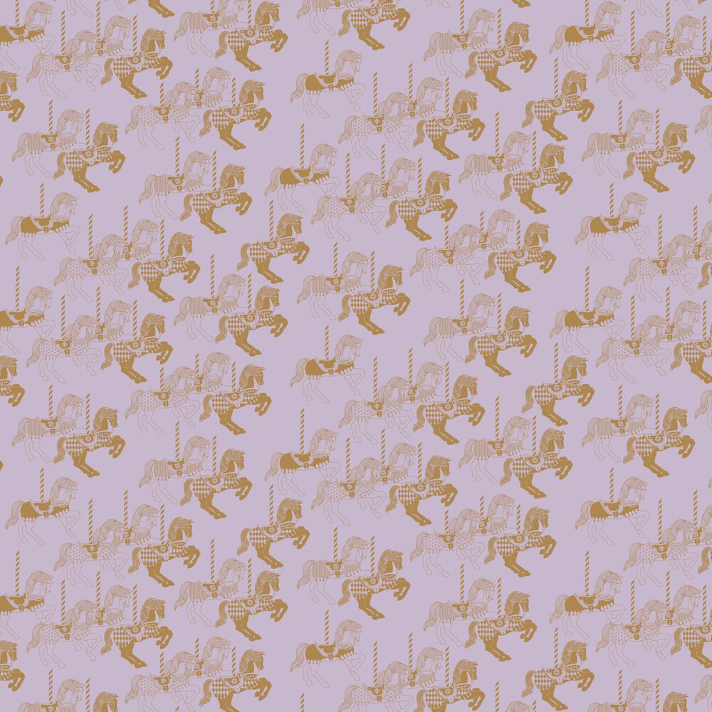 Mini Moderns Fayres Fair  Heather/ Gold Wallpaper - Product code: AZDPT010 Heather